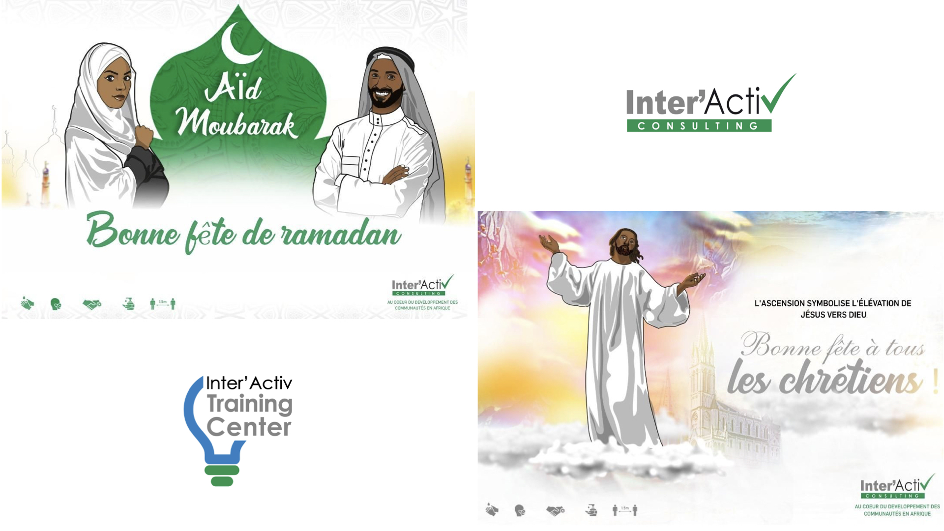 Bonnes fêtes du ramadan et de l'Ascension à tous les musulmans et chrétiens du monde